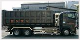 産業廃棄物の収集運搬車
