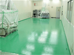 鋼板塗装(仕上げ塗終わり)